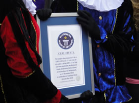 officiele oorkonde van het Guiness Book of Records